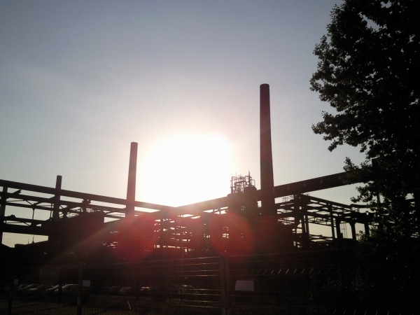 Sonnenuntergang auf Zollverein