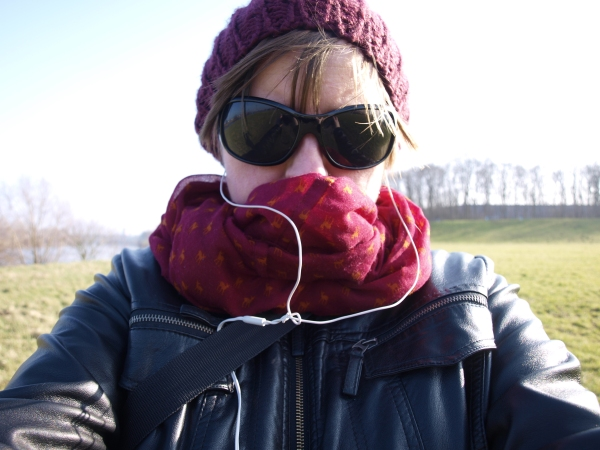 Warm eingepackt und Sonnenbrille auf. Los geht's!