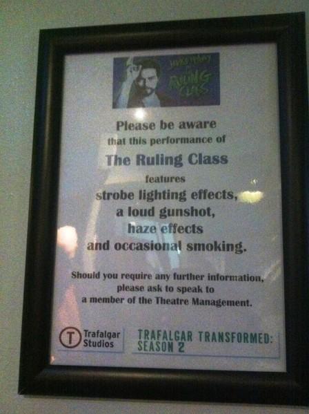 Warnung ruling class