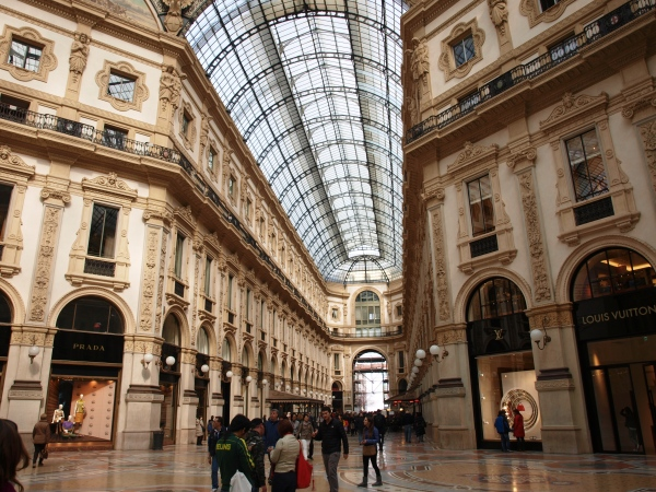 Nämlich in der Galleria Vittoria Emanuele II