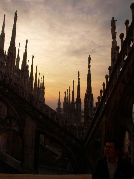 Den Sonnenuntergang auf dem Dom genießen