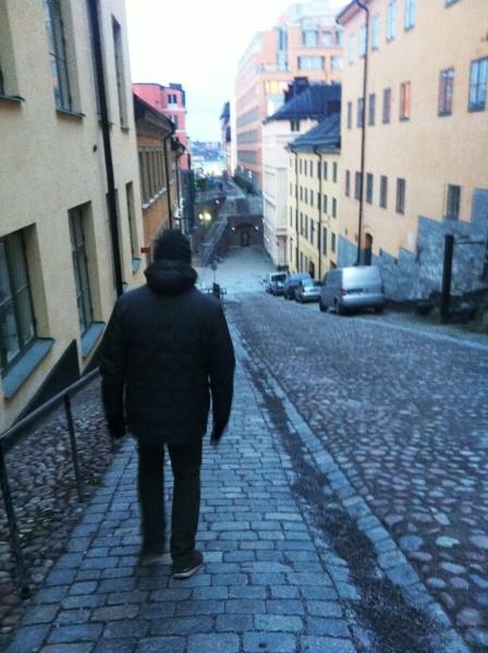 Auf dem Weg von Södermalm in die Stadt...und es geht abwäääärts